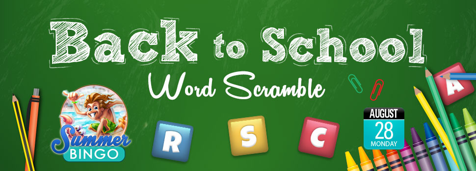 BACK-TO-SCHOOL THEMED WORD SCRAMBLE