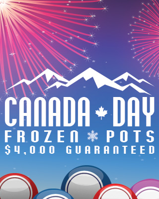Canada Day Frozen Pots