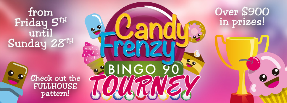 Candy Frenzy Bingo Tournament
