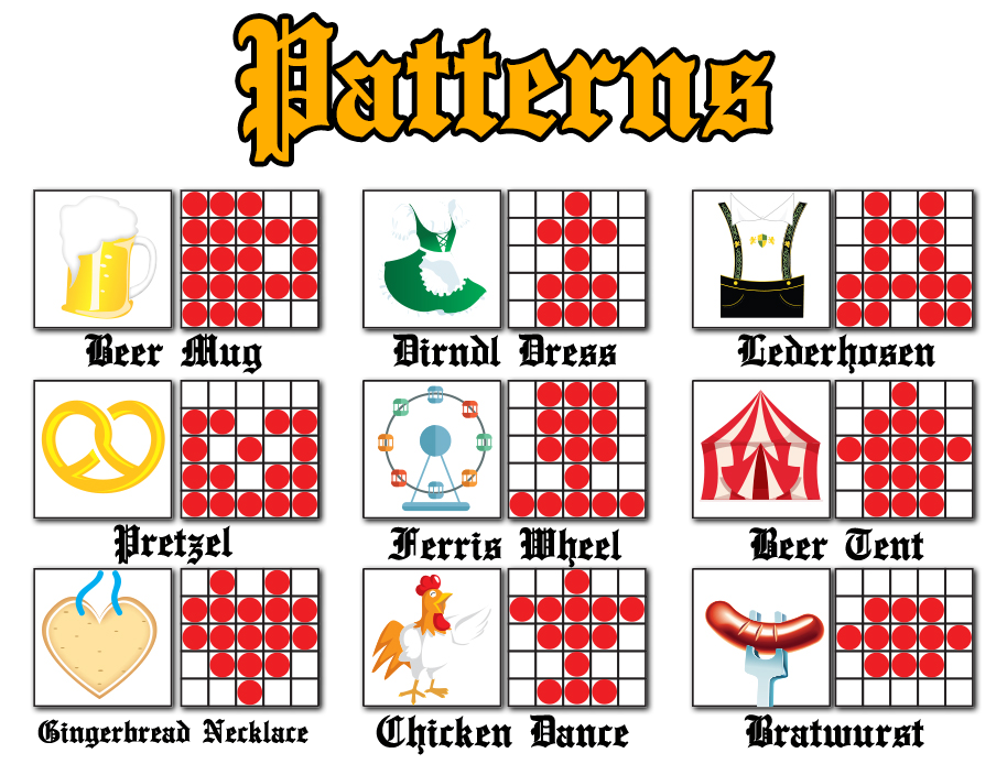 picture about Printable Bingo Game Patterns known as CyberBingo - Outrageous Oktoberfest Bingo