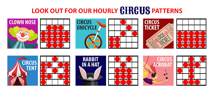 circus bingo tourney patterns