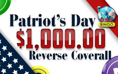 Patriot's Day $1,000 Reverse Coverall